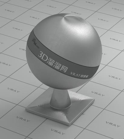 Smooth stainless steel material rendering