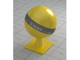 Non-metallic paint yellow sunshine vray material