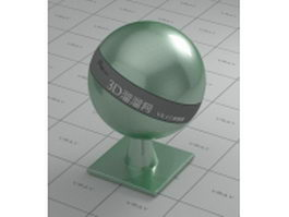 Metallic paint emerald green vray material