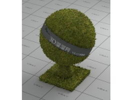 Grass-covered land vray material