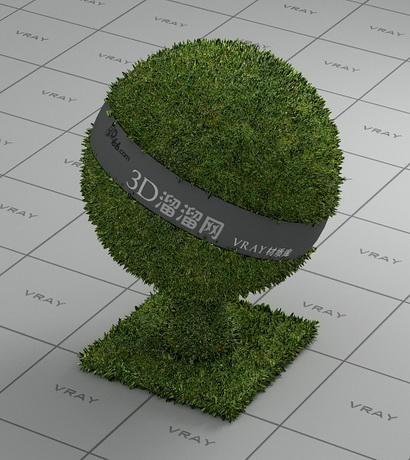 Lawn plant lawn grass material rendering