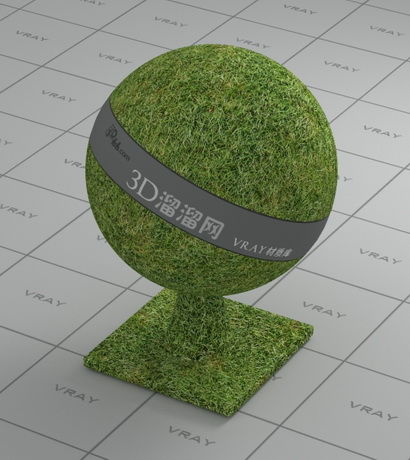 Realistic grass material rendering