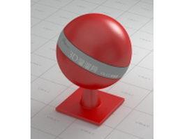 Matt red plastic vray material