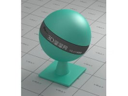 Turquoise plastic vray material