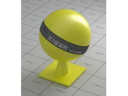 Yellow plastic vray material