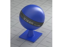 Medium blue plastic vray material