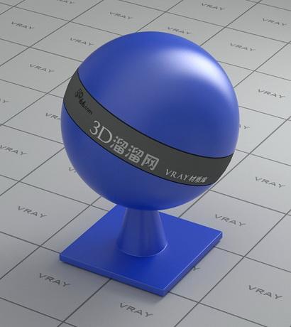 Medium blue plastic material rendering