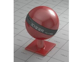 Dark red polishing plastic vray material
