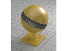 Polishing dark yellow plastic vray material