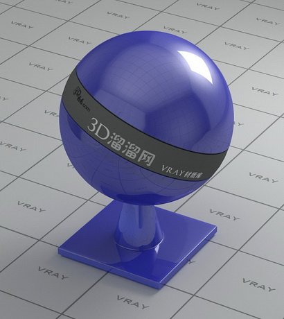 Medium blue polishing plastic material rendering