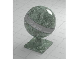 Dark green decorative pattern marble vray material