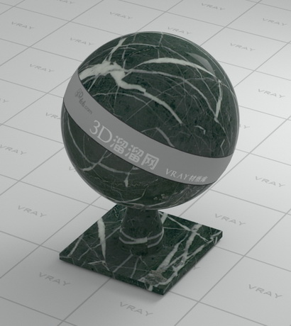 Moss agate green marble material rendering