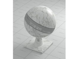 Galaxy white marble vray material
