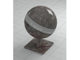 Antique brown marble vray material