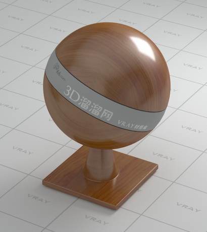 Polished solid wood material rendering