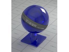 Sri Lanka sapphire blue vray material