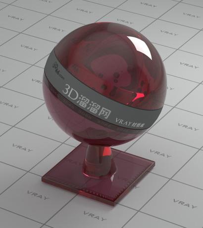 Almandine ruby material rendering