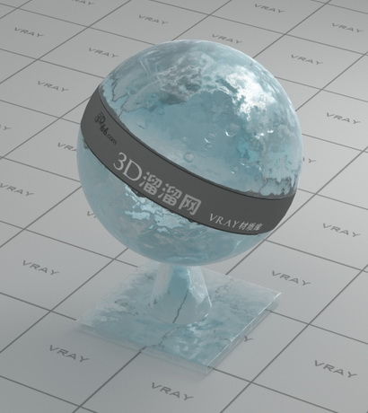 Thick ice material rendering