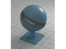 Blue translucent plastic vray material