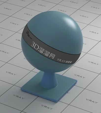 Blue translucent plastic material rendering