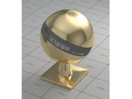 Highly polished brass vray material