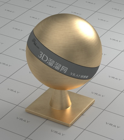 Brass ball material rendering