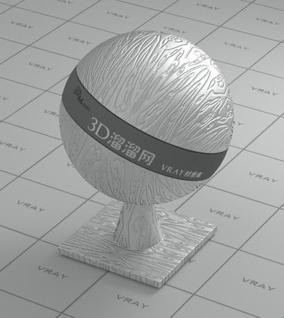 Silver metallic membrane material rendering