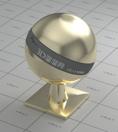 Polished gold plating material rendering