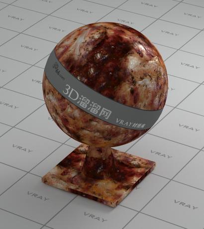 Barbecue food material rendering