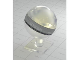 Transparent crystal glass vray material