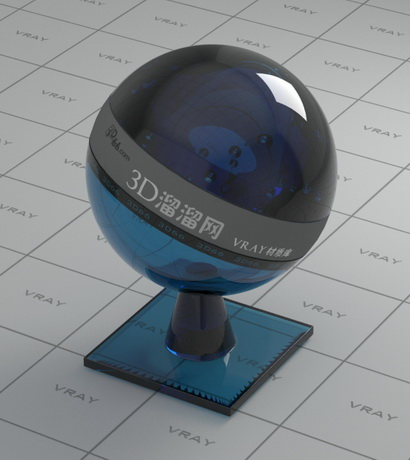 Dark blue architectural glass material rendering