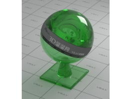 Green glass bottle vray material