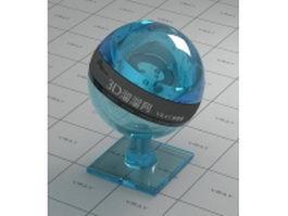 Ultra-thin sheet blue glass vray material