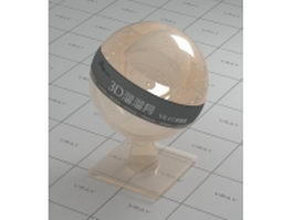 Peach puff crystal glass vray material