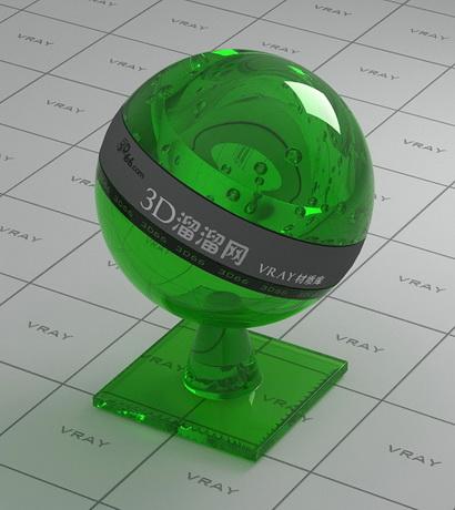 Green glass beer bottle material rendering