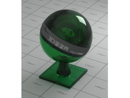 Dark green polished glass vray material