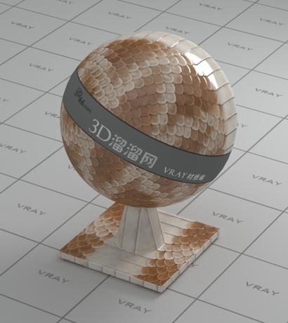 Dragon skin material rendering