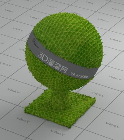 Green snakeskin material rendering