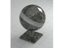 Mocca black marble vray material