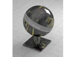 Italy portoro black marble vray material