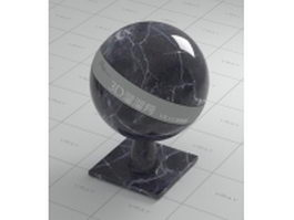 Black Marquina marble vray material