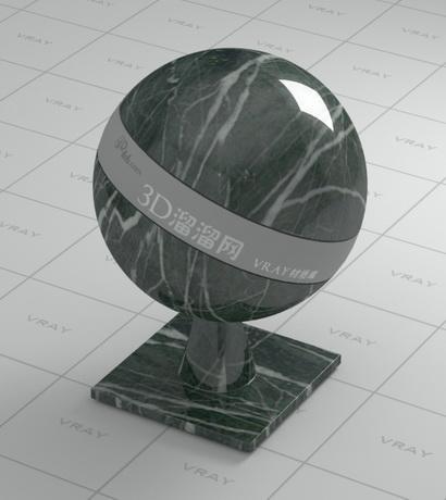 Dark green marble material rendering