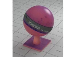 Medium violet red transparent plastic vray material