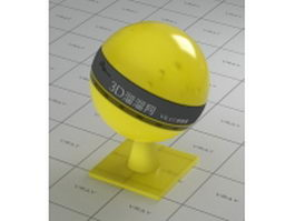 Yellow transparent plastic vray material