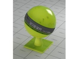 Green yellow transparent plastic vray material