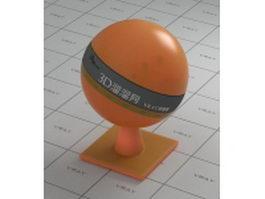 Orange transparent plastic vray material