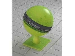 Olive Drab transparent plastic vray material