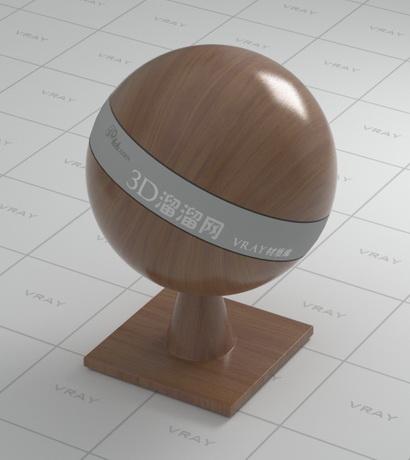 Walnut wood material rendering