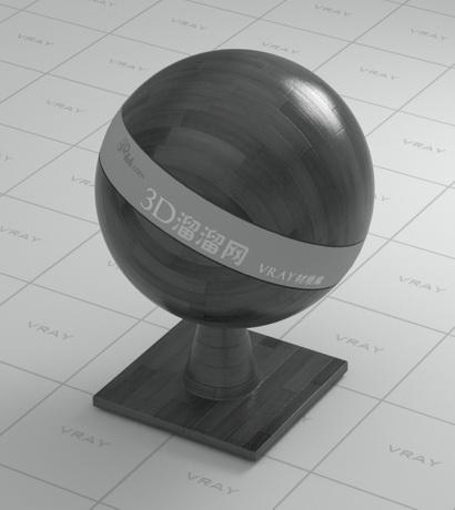 Black wood floor material rendering