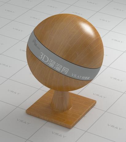 Solid hardwood floor material rendering